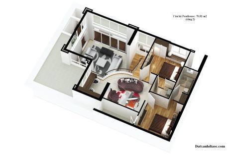 Dien tich tang 2 can ho penthouse du an topaz garden 70.81 m2