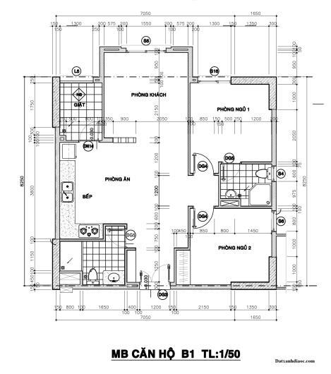 Kích thước mặt bằng căn hộ topaz garden 73.79m2