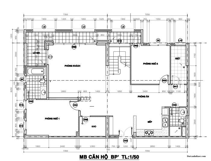 Kích thước mặt bằng căn hộ penthouse topaz garden tầng 1 128.05m2