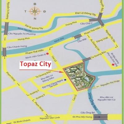 Vị trí căn hộ Topaz City
