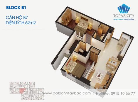 Thiết kế căn hộ Topaz city B7
