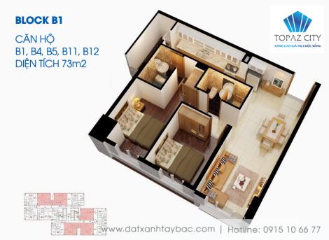Thiết kế căn hộ Topaz city B1,4,5,11,12