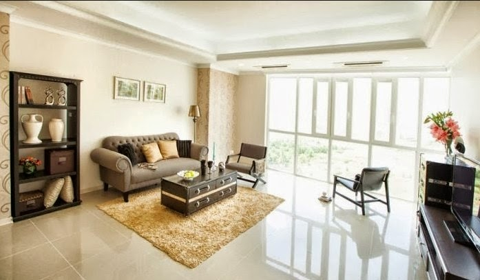Phòng khách căn hộ Topaz city