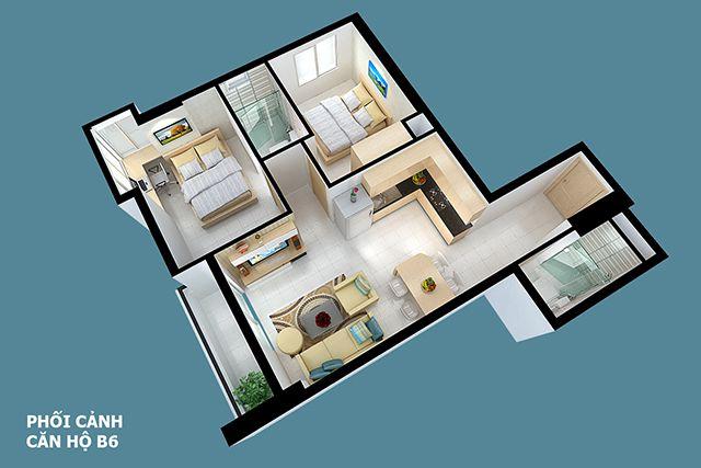 Thiết kế căn hộ full house 78m2
