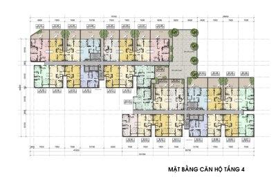 Mặt bằng căn hộ Auris City Tầng 4
