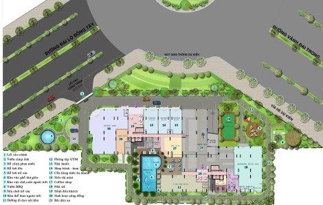 Mặt bằng dự án Căn hộ Auris City Quận 8