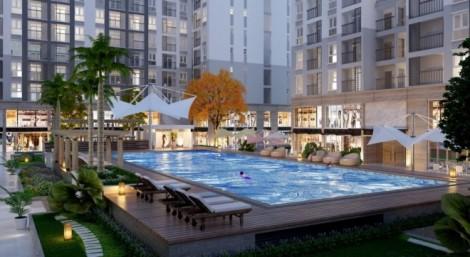 hồ bơi tại dự án Prosper plaza