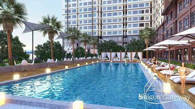 Hồ bơi tại căn hộ Sài gòn Gateway