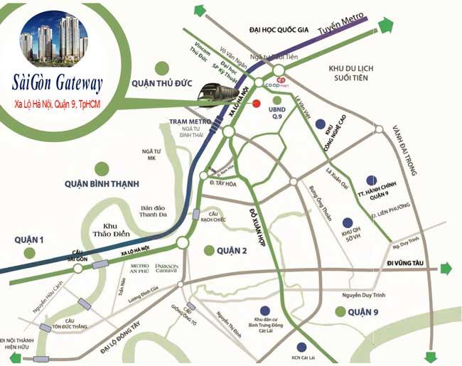 Căn hộ Sài Gòn Gateway - Vị trí dự án