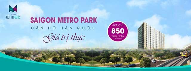 Căn hộ Saigon Metro Park Thủ Đức Giá 850 triệu