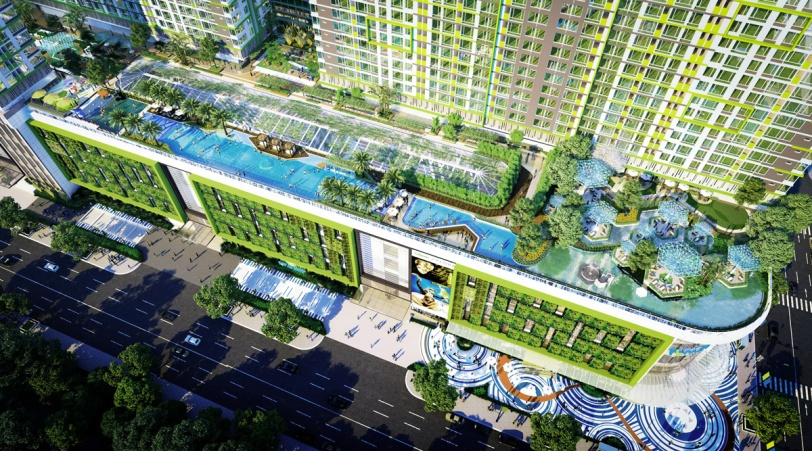 Hồ-bơi-tràn-bờ-trên-tầng-6-của-Dự-án-Topaz-Elite