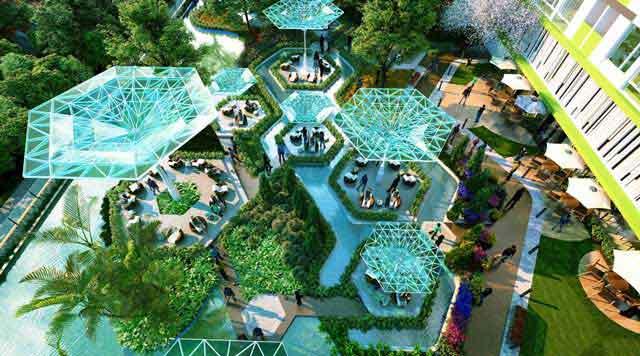Khu cà phê ốc đảo Elite Oasis tại dự án Topaz Elite