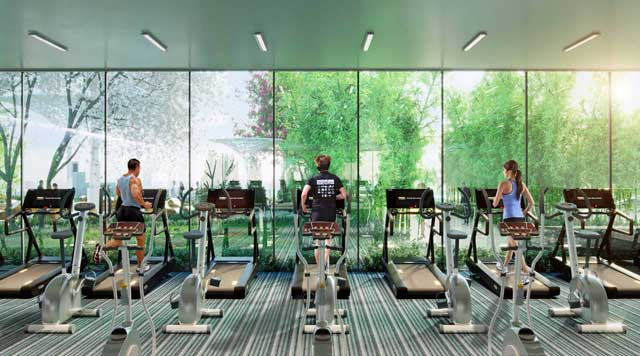 Phòng Gym đa chức năng tại dự án Topaz Elite Quận 8