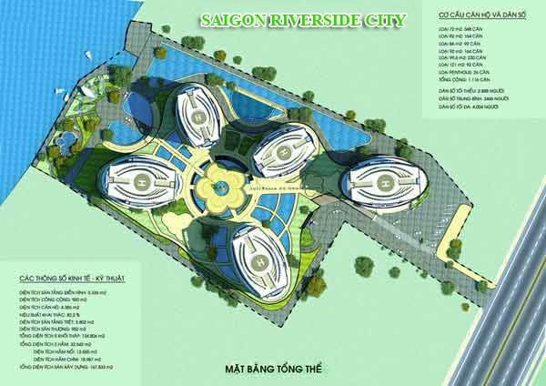 Mặt bằng tổng thể dự án Saigon Riverside city