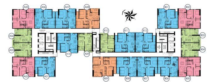 Mặt bằng tầng căn hộ Aurora Residence
