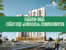 Bẳng giá dự án aurora residence- Bảng giá căn hộ Aurora Residence quận 8
