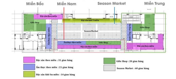 Saigon Metro Mall Mặt bằng tầng 2- Chức năng