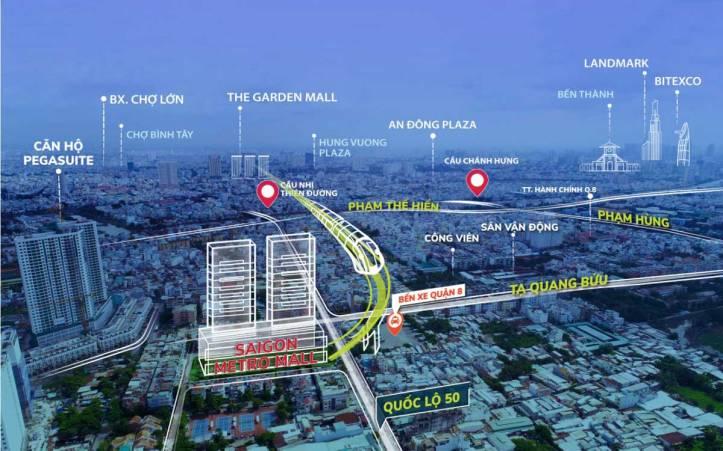 Saigon Metro Mall Có Vị trí đắc địa Quận